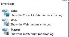 5 8 1 Visual LANSA Error Log Viewer