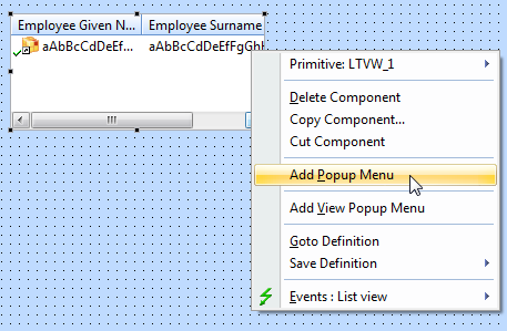 Popup Menu And Select The Option An Edit Box Where You Can Enter Captions Of Items Is Displayed On Top Design View