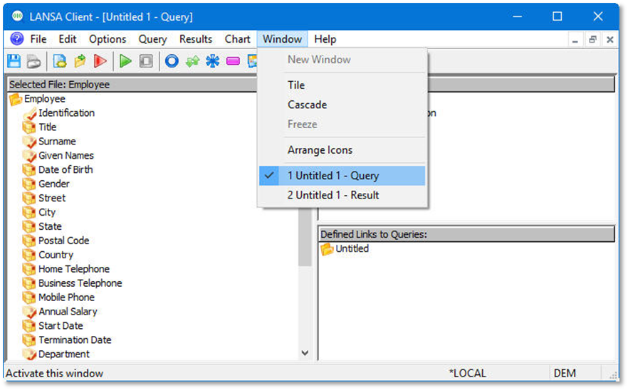 Step 5 Save the query definition