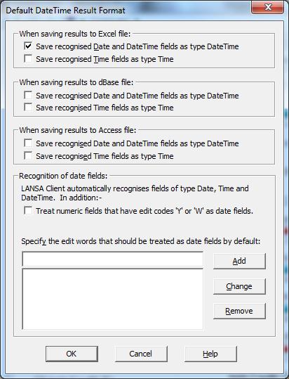 3 4 Default DateTime Result Format
