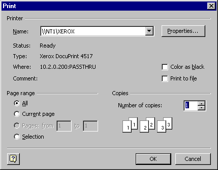 The Visio Print Dialog Will Be Displayed