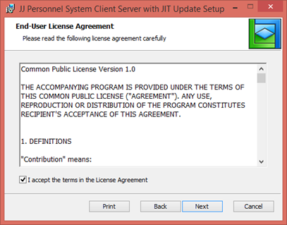 Step 2 Install Version 1 Of Client Personnel System With Jit Update