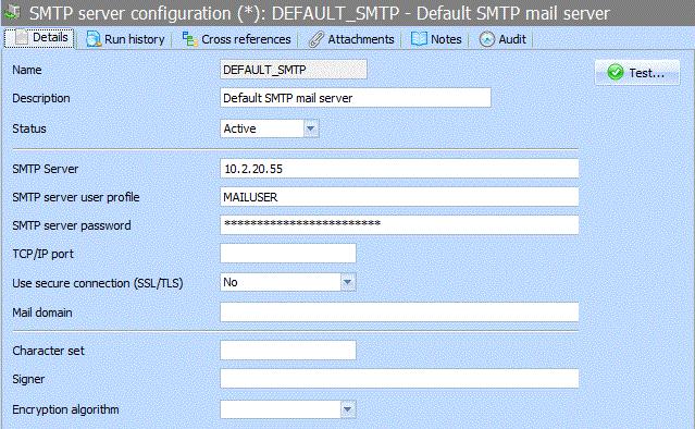 2 3 4 SMTP Server Configuration