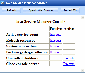 7 3 Java Service Manager Console