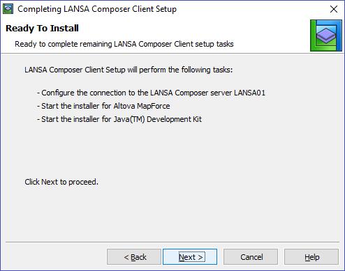 Install LANSA Composer Client