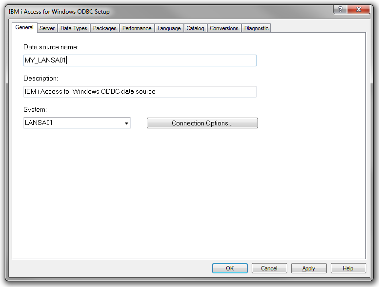 Adding an IBM i DB2 database component in MapForce using ODBC