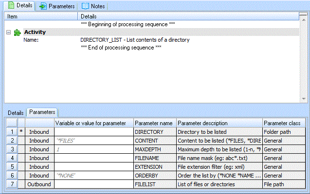 Step 3 Add Directory List Activity to your Processing Sequence
