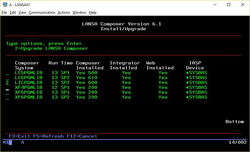Upgrade an Existing LANSA Composer installation